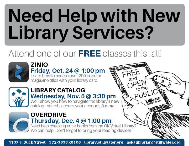 Fall Library Service Classes